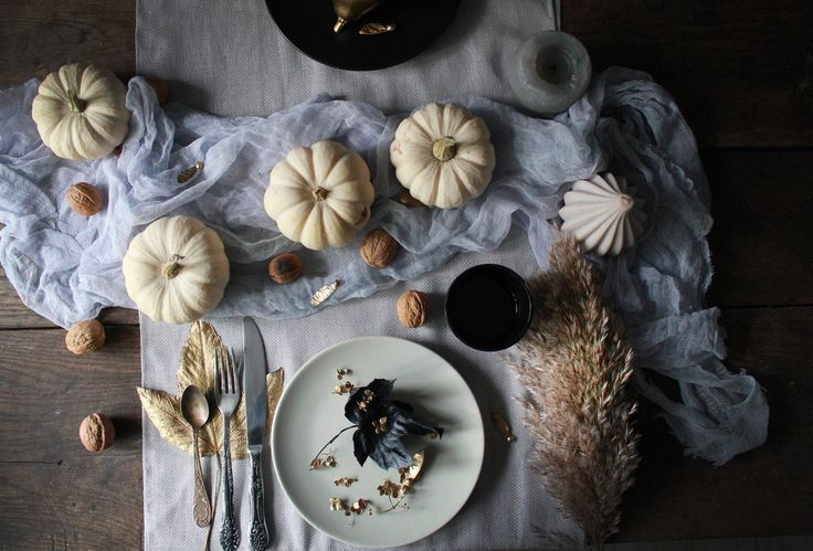 Table details: pumpkins, nuts