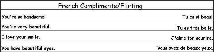French Compliments and Flirting