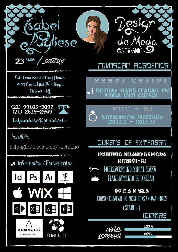 Curriculo Criativo, Isabel Pugliese, Design de Moda, Creative Design, Design, Currículo.