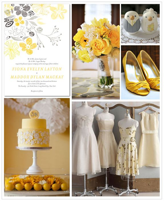 Grey Wedding Ideas: 91 Best Images About Yellow And Gray Wedding Ideas On