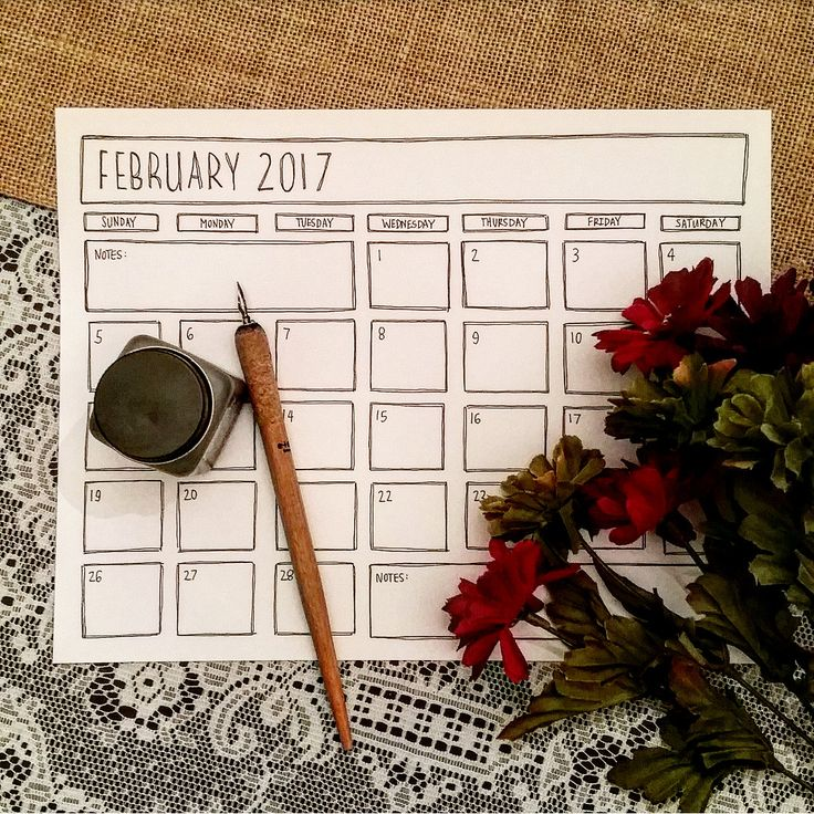 Printable February 2017 Calendar - Black & White Calendar - February 2017 - Minimalist January 2017 - Modern Calendar - Feb 17 Coloring Page by TiaraDeeArt on Etsy