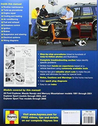 Ford Explorer, 1991-2001: Explorer Sport Thru 2003, Sport Trac 2005 (Haynes Repair Manual)