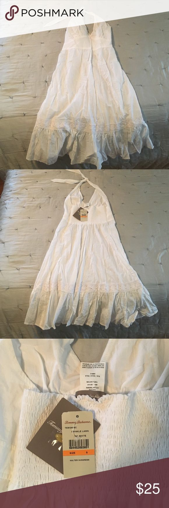 NWT Tommy Bahama white halter sundress, size S. NWT Tommy Bahama white halter sundress, size small. Tommy Bahama Dresses Mini
