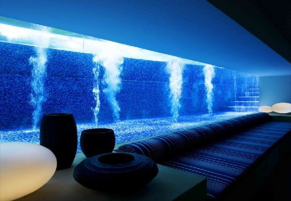 Swimming pool:  House with a downstairs lounge room with an underwater view of the swimming pool.