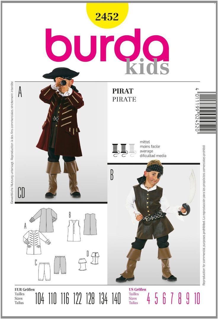 Burda B2452 Patron de Couture Pirate 19 x 13 cm: Amazon.fr: Cuisine & Maison