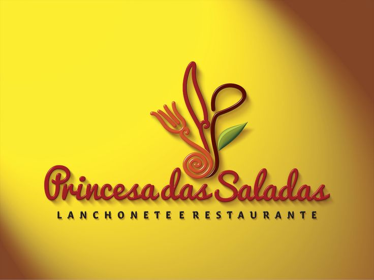 Logotipo criado pela Ópera para a Lanchonete e Restaurante Princesa das Saladas, de São Paulo | SP.