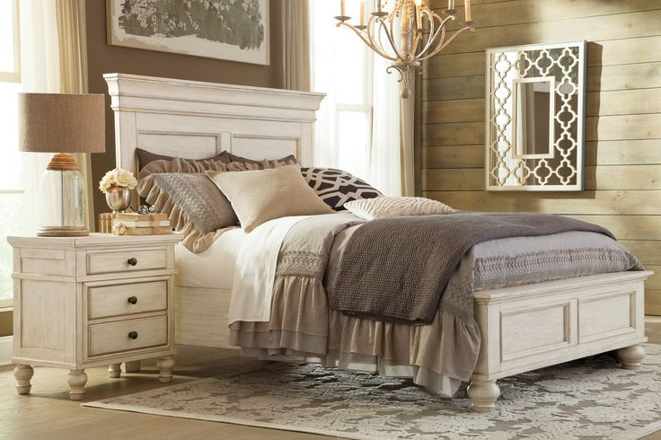 Love the light and airy look of the Marsilona Bedroom Collection...