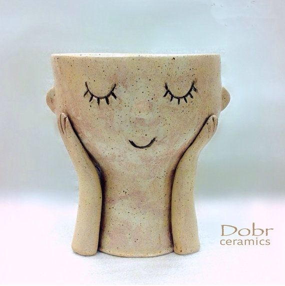 Keramikschale, Schale für Lebensmittel, Keramik Blumentopf, dekorative Schale, Beige, auf Bestellung gefertigt