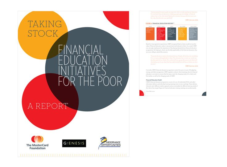 The MasterCard Foundation annual report designed by Macroblu.