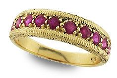 Gold Ruby Ring, Vintage Ruby Ring, 9ct 9k Antique Ruby Ring, Various Gems Avail + 14k 18k Rose White Gold, Custom R212