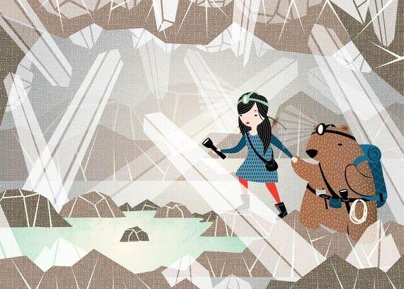 adventure!: Crystals, Lake Print, Etsy, Hillarybird, Illustration, Lakes, Hillary Bird