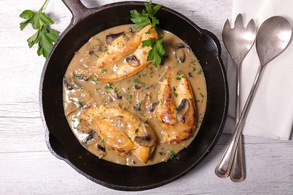 Filets de volaille sauce crémeuse