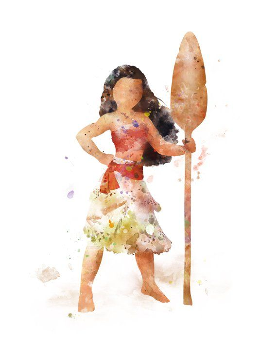 Moana Print Moana Artwork Watercolor Printable Disney Wall Artwork Princess Moana Poster Paintings Moana Present on the spot Obtain