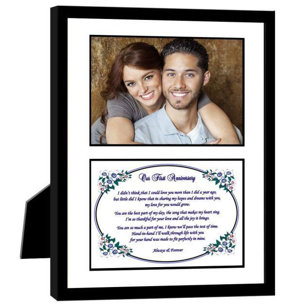 38 Year Wedding Anniversary Gift: Love Poem Frame 1 Year Wedding Anniversary Gift Idea