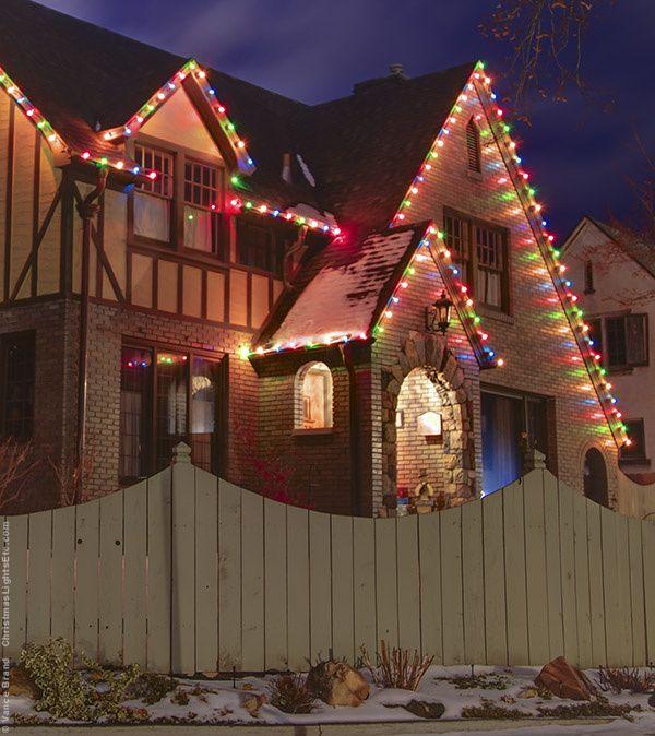 Multicolor Christmas Lights Christmas Light Installation