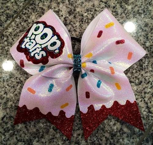 Cheer bows, Pop tarts and Cheer on Pinterest