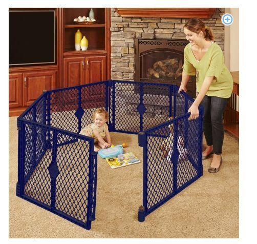 Baby Gate Play Yard Children Extendable Portable Playpen 6-8 Panel Safety Fence #NorthStates