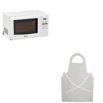KITAVAMO7191TWBWK390 - Value Kit - Avanti 0.7 Cubic Foot Capacity Microwave Oven (AVAMO7191TW) and Boardwalk Disposable Apron (BWK390) ** Visit the image link for more details. #MicrowaveOven