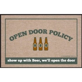 Show me the beer first  I need this for my front door :)