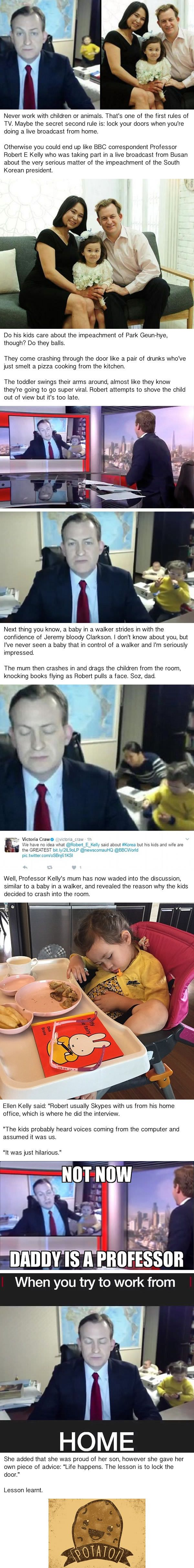 Mother Of BBC News Live Guest Reveals Reason Why Kids Burst Through The Door