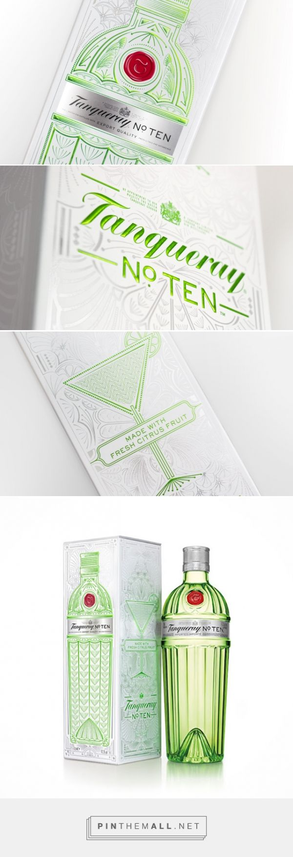 Tanqueray No. TEN Gin Gift Pack designed by ButterflyCannon - http://www.packagingoftheworld.com/2015/11/tanqueray-no-ten-gift-pack.html