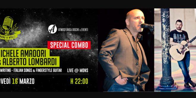 Mons'n'Music: giovedì 16 marzo Michele Amadori e Alberto Lombardi in concerto al Mons