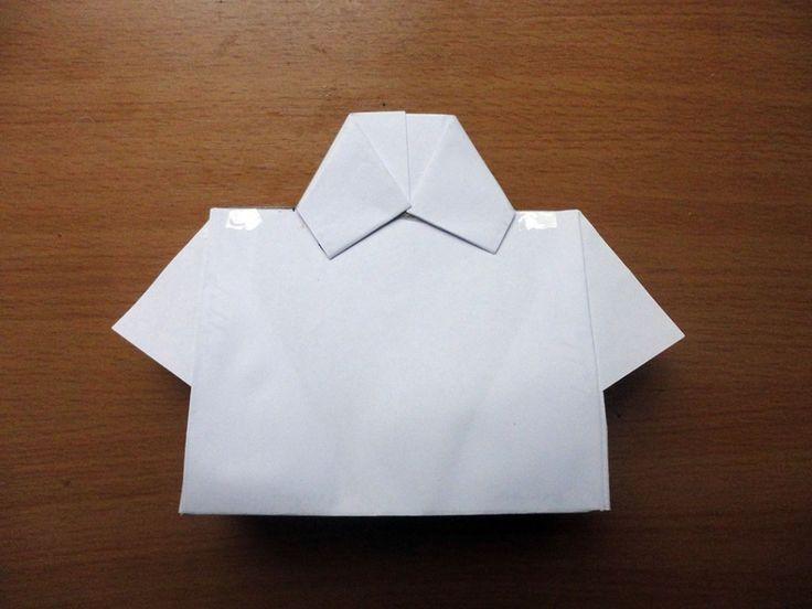 Paso a paso en fotos para hacer la bolsa en forma de camisa para papá