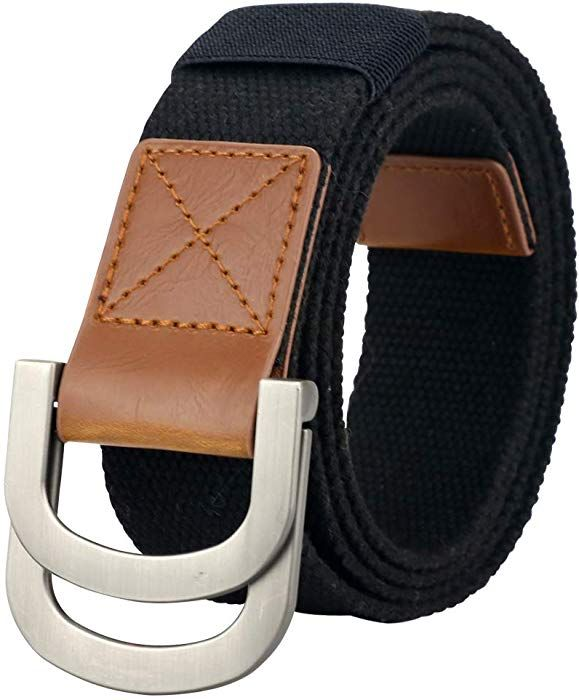 Mens Canvas Belt Casual Web D Ring Buckle Military For Boys Girls
