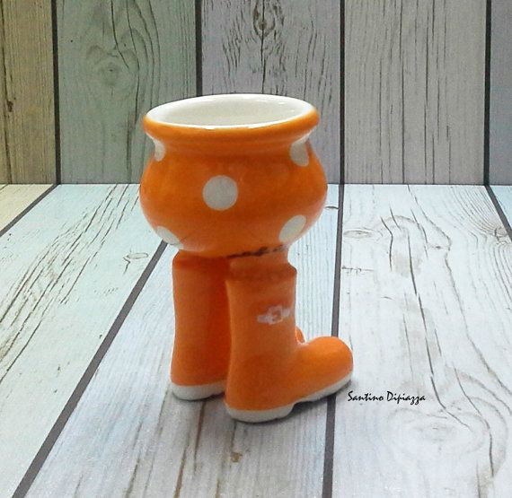 Egg Cups Wellington Boots - Modern Egg Cups
