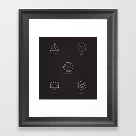 Five platonic solids