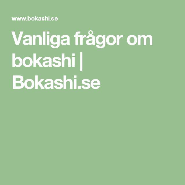 Vanliga frågor om bokashi | Bokashi.se