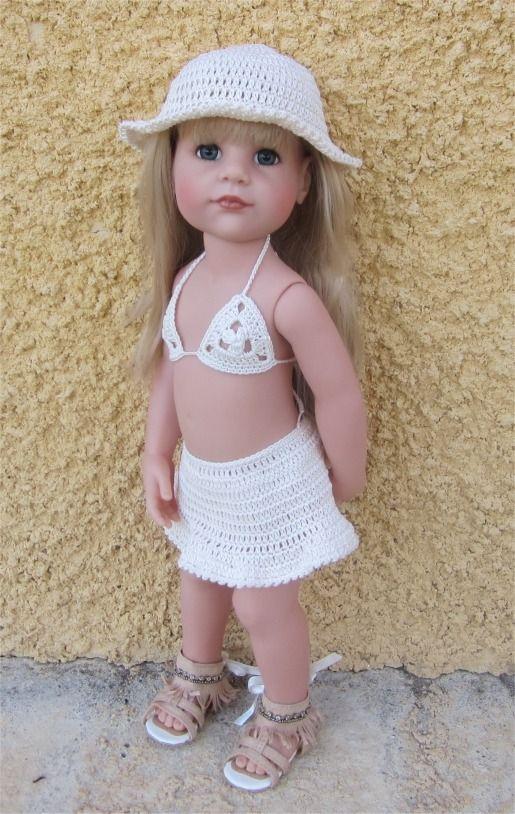 37- FICHE PATRON CROCHET Maillot de bain pour poupée Hannah de chez Götz : Jeux, jouets par atelier-crochet