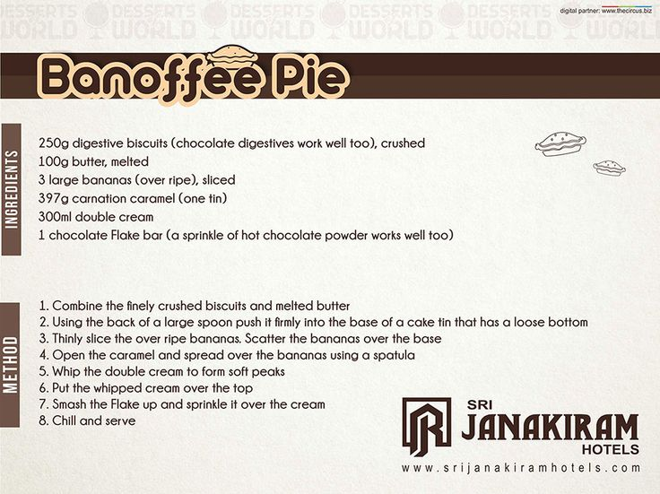 Banoffee pie: recipe