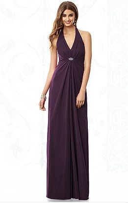 New arrival - deep purple, halter neck bridesmaid dress with embellishment