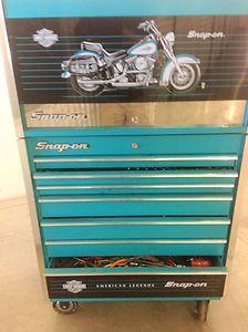 Snap on Harley Davidson Tool Box SnapOn RARE Teal Aqua Toolbox Snap on Softail | eBay