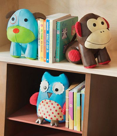 Colourful, playful characters can adorn their shelves with Zoo Bookends by Lush Baby. These adorable, friendly animals can also be used as doorstops, paperweights and bedtime buddies and their different textures make them ideal playmates for young children. Who said bookends can't be fun?