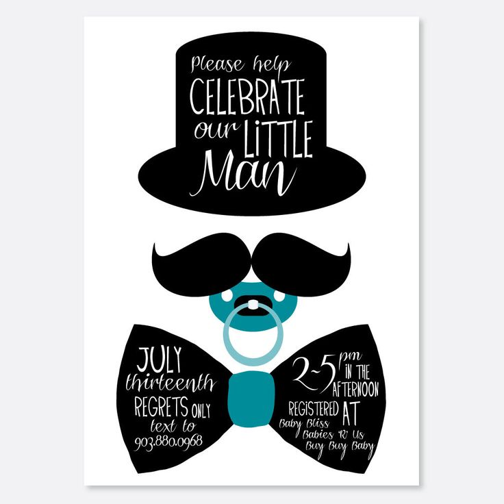 25+ best ideas about mustache invitations on pinterest | mustache, Baby shower invitations