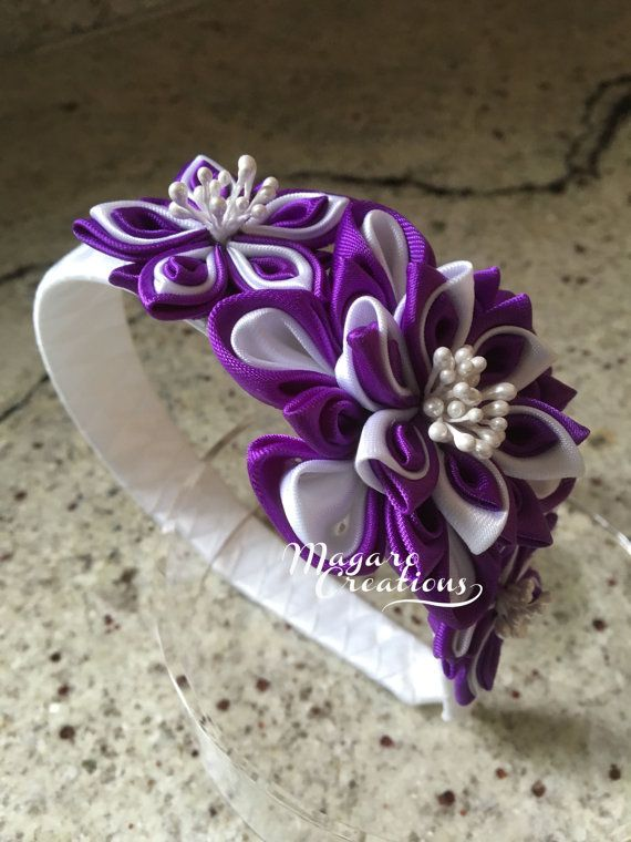 Purple headbandkanzashigirl headbandheadband by MagaroCreations