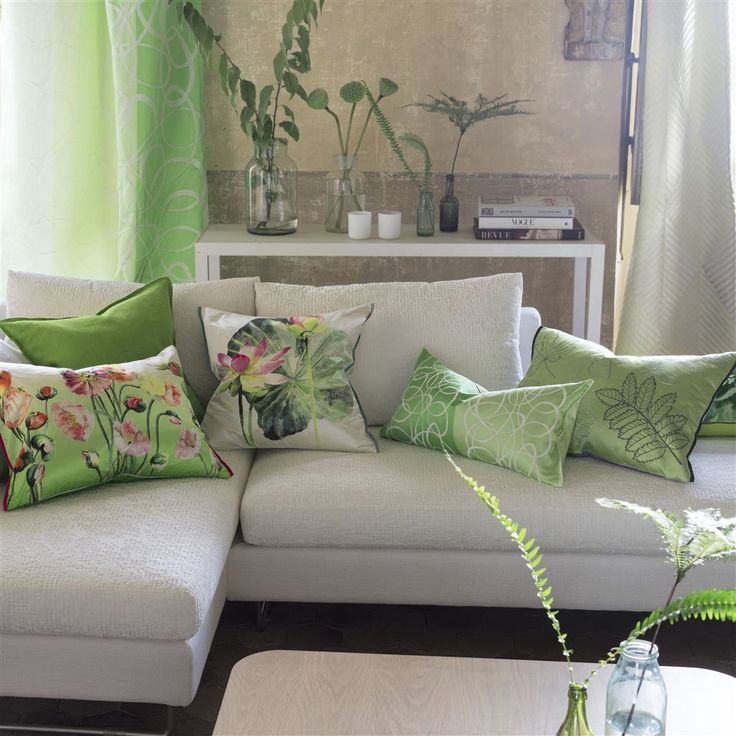 Marquisette Leaf Cushion | Designers Guild