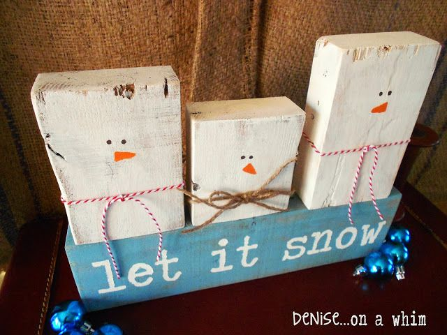 Let It Snow: How to Make Snowmen Decor with 2x4 Scraps