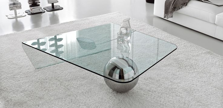 Globe konferenční stolek / coffee table with glass top