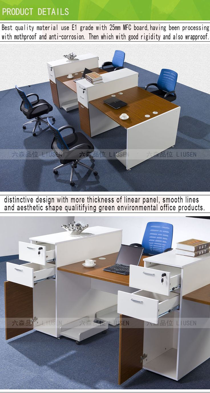 Factory wholesale price workstation wooden MDF frame traditional office desk / working office table