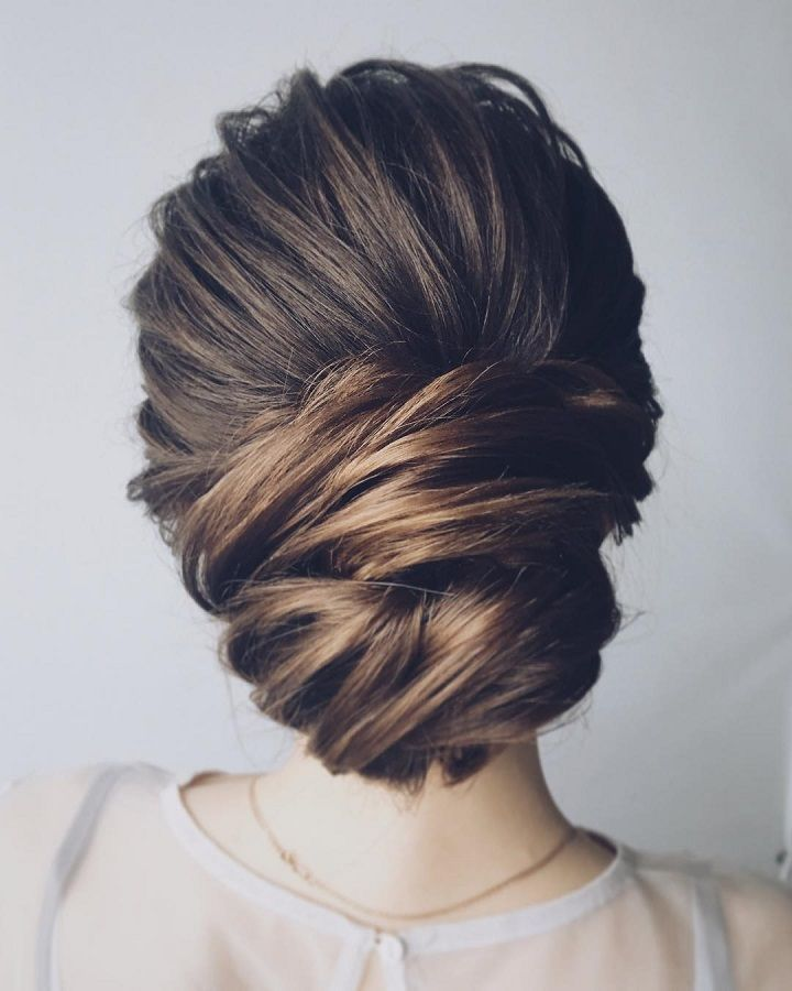 Beautiful chignon wedding hairstyle
