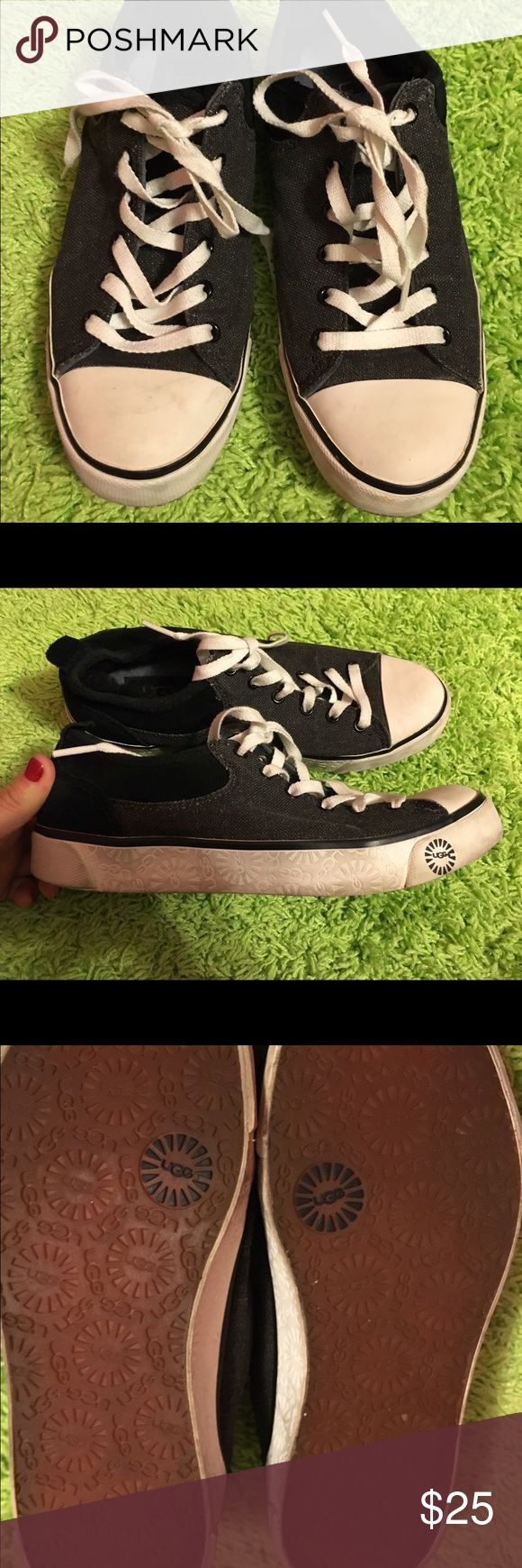 Ugg sneakers. Ugg sneakers. Color is black with gray. Used twice. Price is firm. UGG Shoes Sneakers