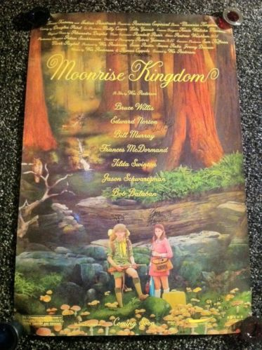 Moonrise Kingdom Cast Autographed 27x40 Poster Promo Only RARE Wes Anderson | eBay