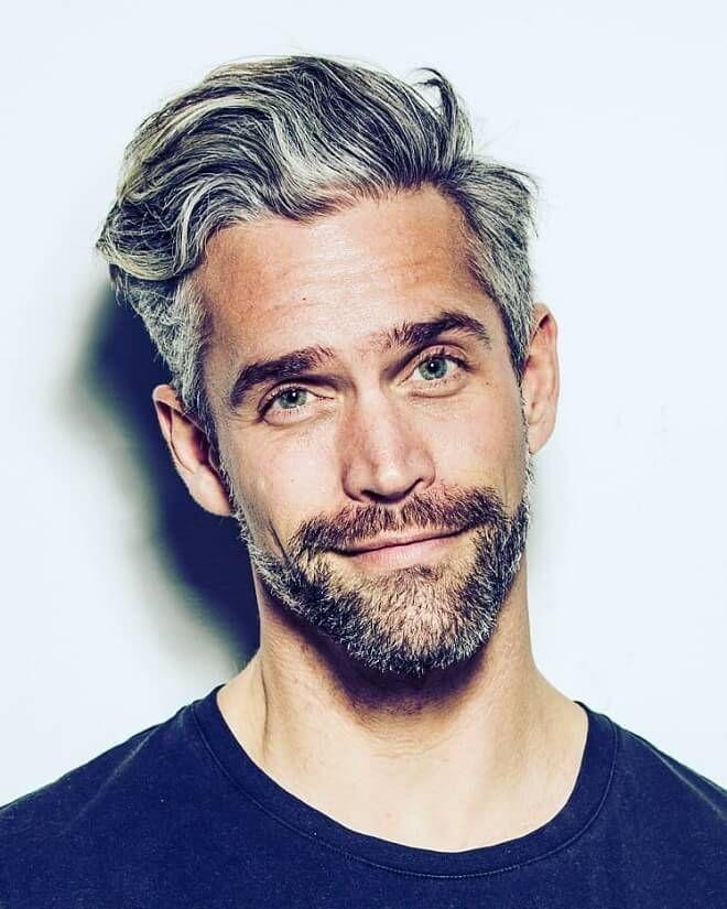 Short Sides Textured Grey Hair Stubble Older Mens Hairstyles Cool Hairstyles For Men Grey Hair Men