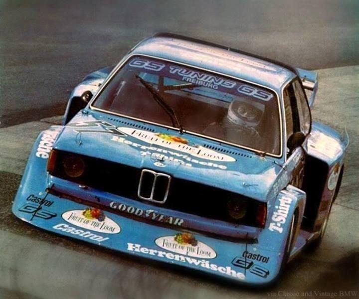 ca 1978, DRM Nürburgring Supersprint. The #57 BMW 320i driven by Markus Höttinger