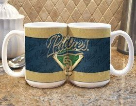 Drink your coffee in style with this officially licensed coffee mug! The ceramic mug features a wrap around team design in bright, vivid colors. The ceramic mug holds 15 fluid ounces.