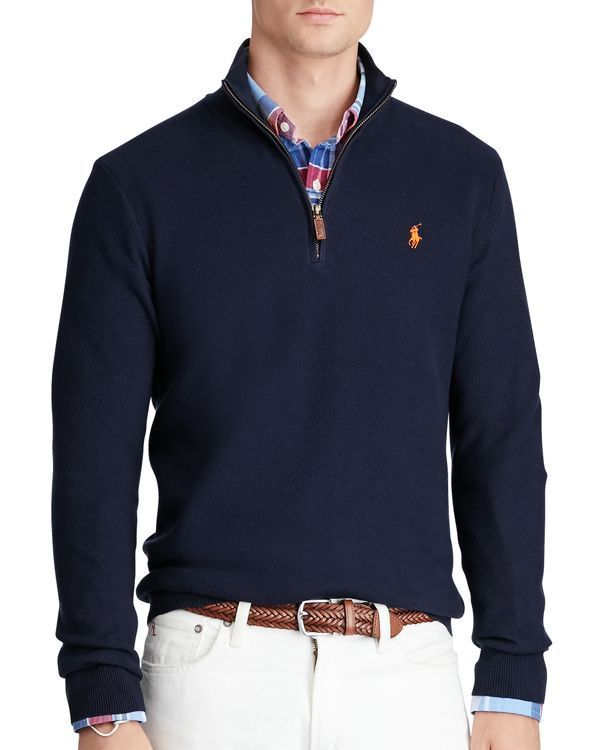 58db0345ddb7ee Polo Ralph Lauren Pima Cotton Half-Zip Sweater