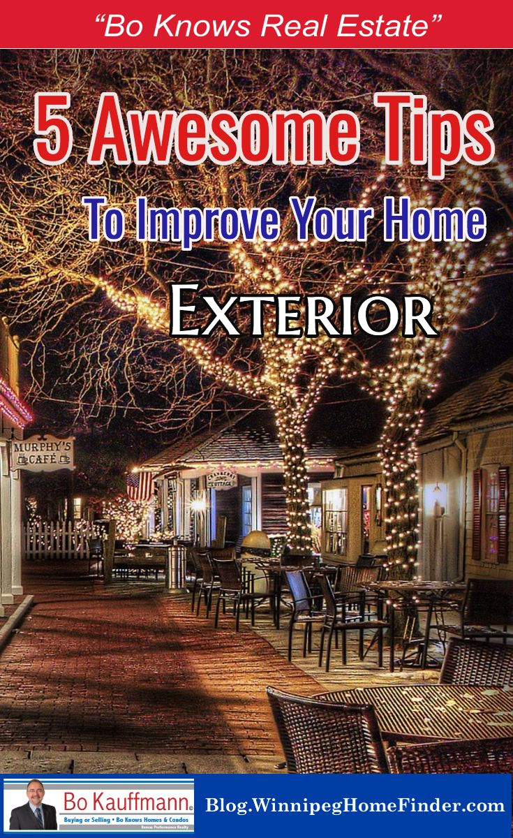 Upgrading and Renovating your home's exterior | 5 Tips to help spruce up your home exterior | Improving your Curb Appeal | #HomeRenos #HomeRenovation #HomeUpgrading #ExteriorRenos #CurbAppeal #HomeSweetHome #FirstImpressions